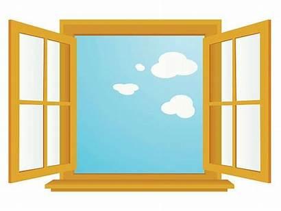 Window Open Clipart Vector Illustrations Clip Fenster