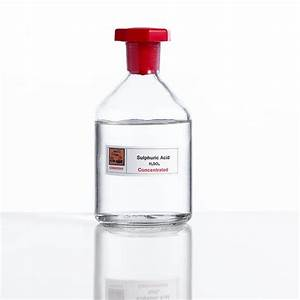 Sulphuric Acid  Laboratory Bottle Photograph By