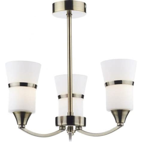 dar lighting dublin 3 light led ceiling fixture in antique