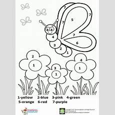 Color By Number Spring Worksheet For Kids  Planters  Kindergarten Worksheets, Worksheets For