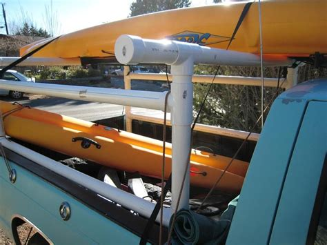 how to build a kayak rack for truck pin by mitchell tremblay on pvc trucks