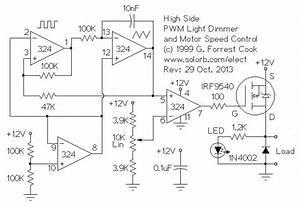 Pwm Motor Light Controller Electronic Circuit Diagram