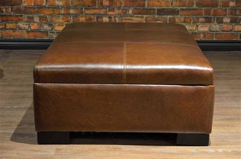 leather coffee table ottoman collection medium