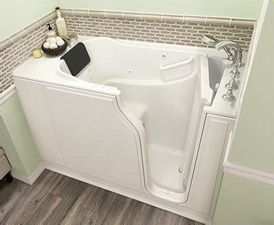 How Wide Is A Standard Tub by Walk In Tub Dimension Sizes Of Standard And Wide Tubs