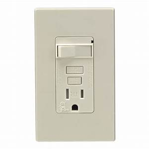 Leviton Combination Gfci With Switch Tamper Res 15 Amp Light Almond Lighted Csa