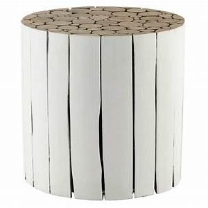La Maison Du Blanc : bout de canap en bois blanc d 41 cm didda maisons du monde ~ Zukunftsfamilie.com Idées de Décoration