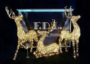Weihnachtsbeleuchtung Aussen Figuren : 3d led acryl schmuckfigur stehendes rentier warmwei e led glitzereffekt twinkle ~ Buech-reservation.com Haus und Dekorationen