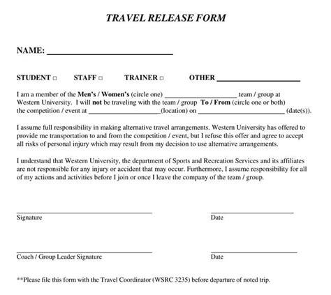 release  liability form  samples templates