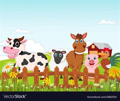 farm animal cartoon royalty  vector image vectorstock