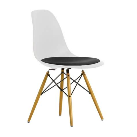 chaise dsw vitra eames plastic side chair dsw upholst h43cm vitra