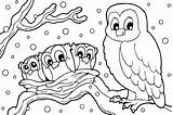 Coloring Winter Pages Printable sketch template