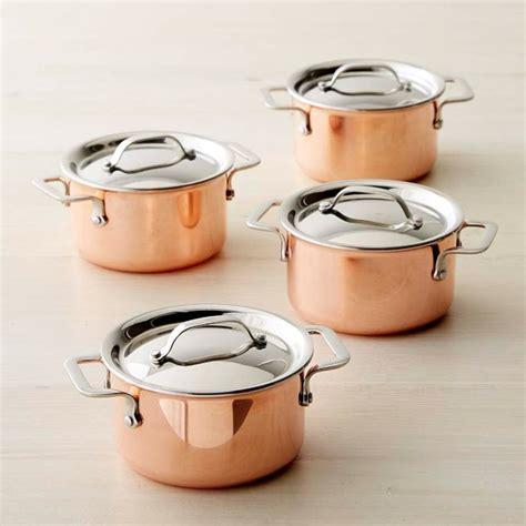 williams sonoma mini copper cocottes set   williams sonoma