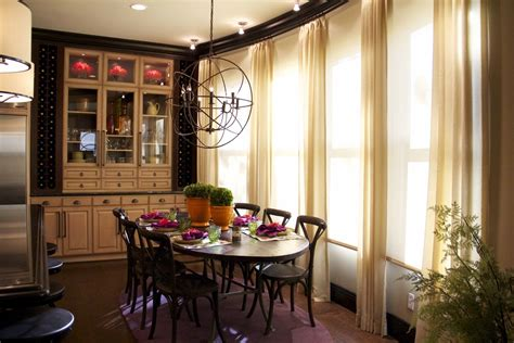 Vibrant Transitional Kitchen Dining Room Before And After