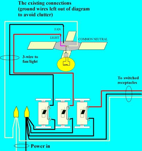 how to hook up a ceiling how to wire a ceiling fan with a remote to a wall switch