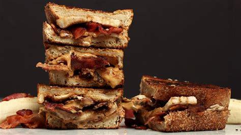 la recette du peanut butter banana  bacon sandwich