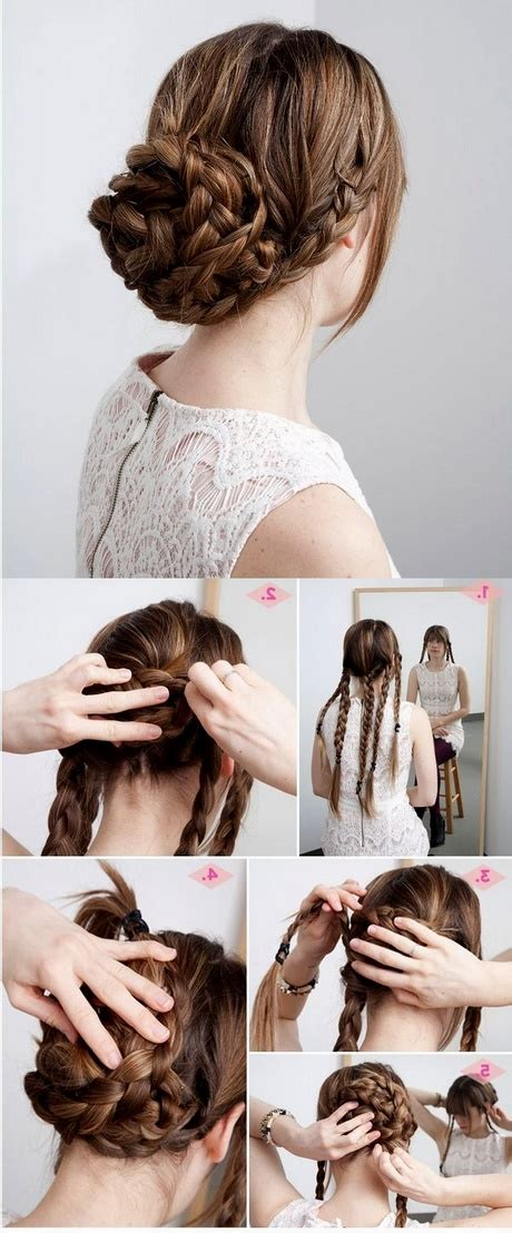 quick easy updos  long thick hair