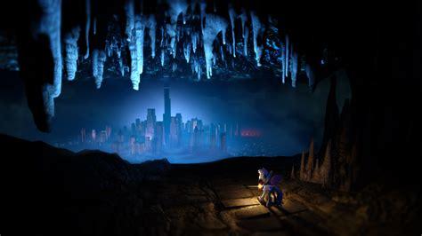 underground city cityscape cave