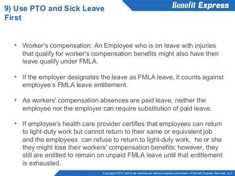 workers compensation light duty policy how to comply with fmla