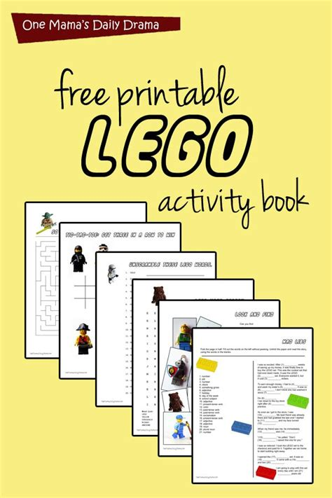 printable lego activity book activity books book and free printable