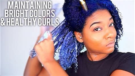 Color Treated Curly Hair Routine| Wash Day After Dying