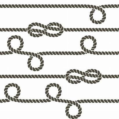 Rope Vector Knots Pattern Marine Seamless Navy