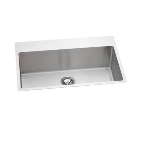 elkay avado slim universal mount stainless steel 33x22 0 single bowl kitchen sink in