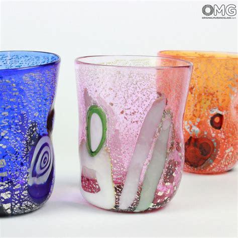 murano bicchieri 6 bicchieri goto di murano