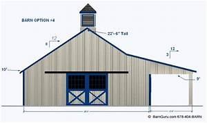 barnplans joy studio design gallery best design With 4 stall horse barn cost
