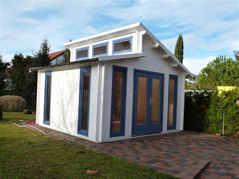 pultdach gartenhaus in wei 223 und taubenblau gartenhaus