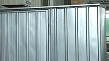 Qiq Fix Sheds by 1 5 X 0 8 X 1 9m Zinc Garden Shed Bunnings