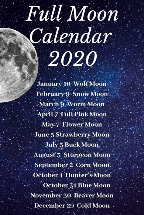 calendar  full moon printable calendar