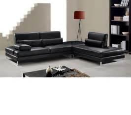 black leather sofa dreamfurniture modern black leather sectional sofa