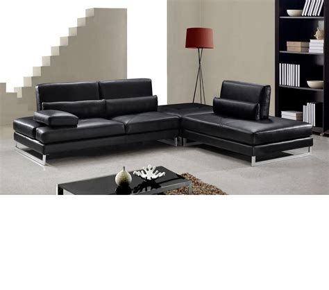 black leather sectional with ottoman dreamfurniture com tango modern black leather