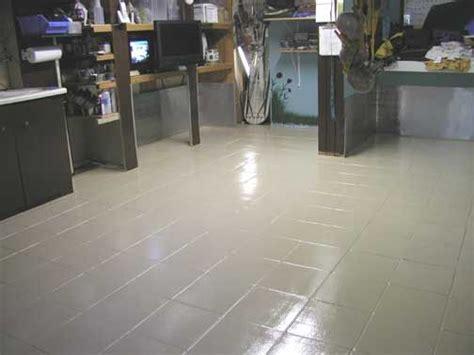 epoxy painted tile floor floors pinterest painted