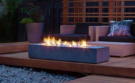 contemporary deck  napoleon linear patioflame outdoor