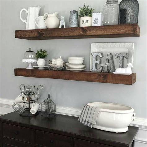 Shanty2chic Dining Room Floating Shelves By @myneutralnest
