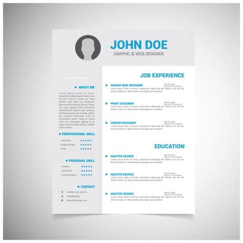 Curriculum Vitae Design Template Free by Resume Vectors Photos And Psd Files Free