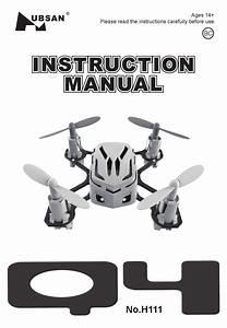 Hubsan Q4 H111 User Manual By Usa Toyz