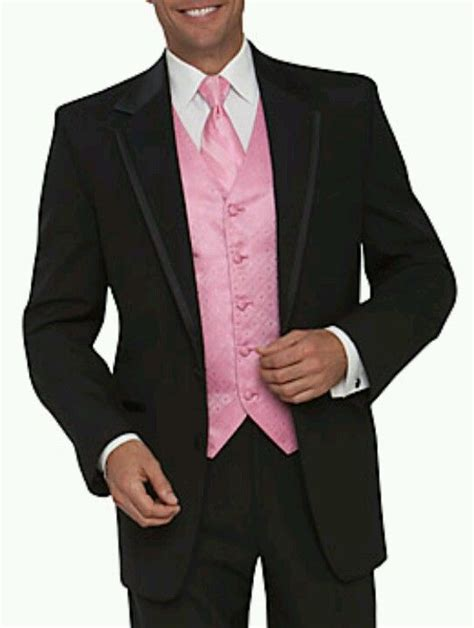 light pink tuxedo the other half will where light pink vest with black tux