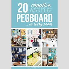 20 Creative Ways To Use Pegboard In Every Room!  Make It