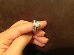 wedding rings anjolee vs blue nile custom ring design With eternity ring as wedding band