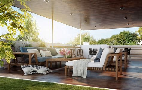 outdoor lounge furniture embrace the swing of