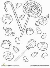 Candy Coloring Pages Printable Halloween Gumdrop Worksheet Sweet Education Lollipops Gum Worksheets Adult Kindergarten Corn Colouring Sheets Cute Doodle Drops sketch template