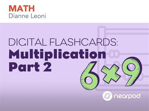 Digital Flashcards Multiplication Part 2
