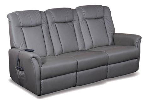 canapé cuir relaxation électrique celeste canape 3 places relax electrique cuir vachette gris