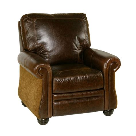 Carolina Recliner by Carolina Push Back Recliner By Omnia Leather