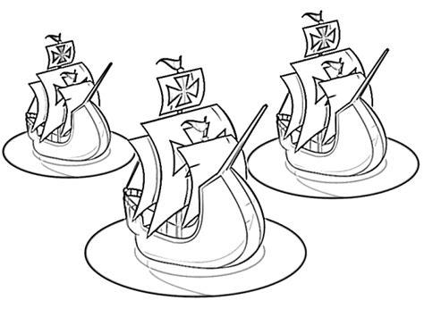 Barcos Para Colorear De Cristobal Colon by Dibujos De Las 3 Carabelas De Crist 243 Bal Col 243 N Para Pintar
