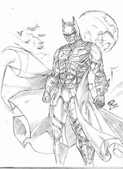 Knight Batman Coloring Pages Dark Drawing Arkham