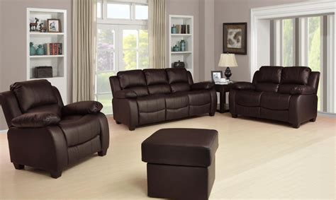Leather Sofa Luxury by New Valerie Luxury Leather Sofa Suite Black Brown 3