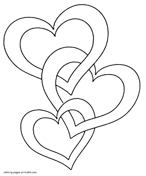 hearts coloring pages  print clip art heart coloring